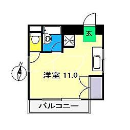 ルミナス与力[4階]の間取り