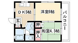 愛知県尾張旭市井田町2丁目の賃貸マンションの間取り