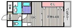 宿院西TKハイツ2号館[2階]の間取り