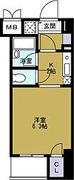 ベルシモンズ大阪港[3階]の間取り