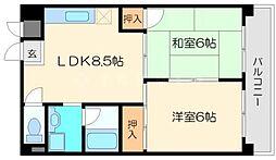 マッハ87[3階]の間取り