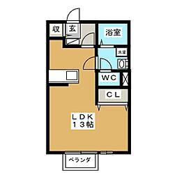 リビングタウン乙田C棟[1階]の間取り