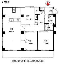 エスポワール上福岡[202号室号室]の間取り