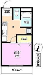 長野県小諸市甲の賃貸アパートの間取り