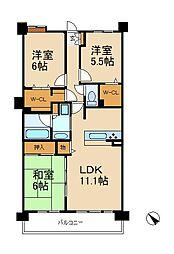 レジディア東松戸[3階]の間取り