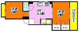 日伸ビル 201号室[2階]の間取り