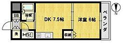 おおきに北大阪リバーフロントAP[11階]の間取り