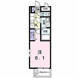 新潟県新潟市中央区窪田町7丁目の賃貸アパートの間取り