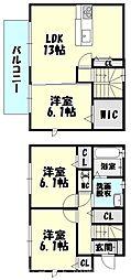 [一戸建] 福岡県糟屋郡志免町南里3丁目 の賃貸【/】の間取り