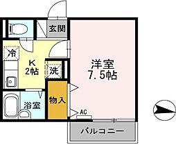 セジュールハゴロモ B棟[1階]の間取り