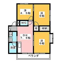 錦見コーポII[2階]の間取り