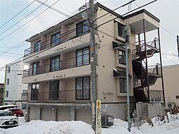 北海道札幌市豊平区月寒東一条7丁目の賃貸アパートの外観