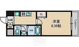 モノロカーレ江坂[805号室]の間取り