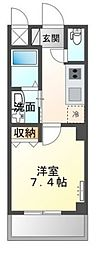 (仮称)堺市堺区向陵中町3丁新築賃貸マンション 1階1Kの間取り