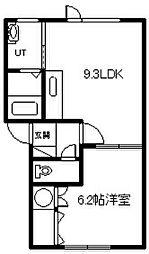 メゾンドソレイユ09[203号室]の間取り