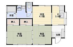 [一戸建] 神奈川県平塚市公所 の賃貸【神奈川県 / 平塚市】の間取り