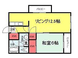 大阪府堺市堺区出島海岸通1丁の賃貸マンションの間取り