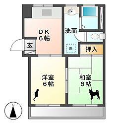 コーポ太田[2階]の間取り