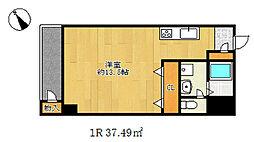 湊川センタービルB棟[5階]の間取り