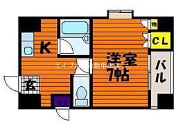 シャトレ平田[4階]の間取り