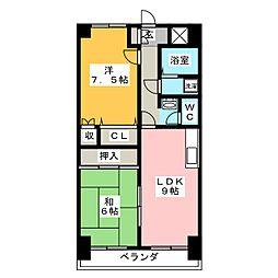プリムローズA棟[3階]の間取り