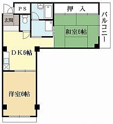 メゾン敷島[3階]の間取り