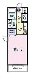 Dear Place 氷川台[208号室]の間取り