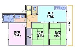 レジデンスクロダ[2階]の間取り