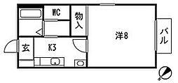パークハイツ伊藤[1階]の間取り
