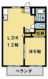 パナハイツサカモト[2階]の間取り