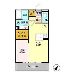 D-room ibuki/[302号室]の間取り
