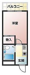 プレアール田辺II[4階]の間取り