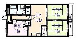 パールハイツ 21[1階]の間取り