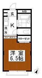 東京都八王子市下柚木2の賃貸マンションの間取り