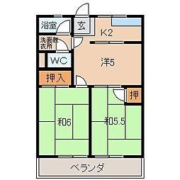 はりまやマンション[1階]の間取り