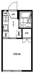 ミゲールコート[102号室号室]の間取り