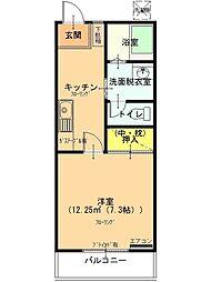 富士之越テラス[102号室]の間取り
