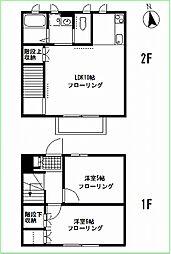 [テラスハウス] 神奈川県横浜市港北区篠原東2丁目 の賃貸【/】の間取り