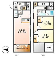 EMATSU HOUSEIII[1階]の間取り