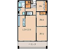 プラージュ和歌浦[2階]の間取り