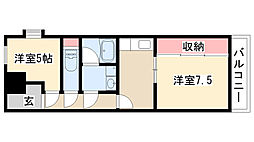 愛知県名古屋市南区源兵衛町2丁目の賃貸マンションの間取り