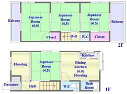 [一戸建] 兵庫県神戸市垂水区星が丘1丁目 の賃貸【/】の間取り