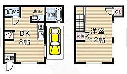 [一戸建] 大阪府豊中市春日町1丁目 の賃貸【/】の間取り