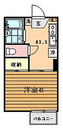 ラプラス鶴川[2階]の間取り