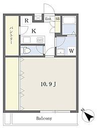 東京メトロ東西線 行徳駅 徒歩8分の賃貸マンション 3階1Kの間取り