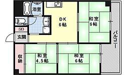 第二ロイヤルハイツ和田[202号室号室]の間取り