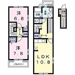 愛知県名古屋市南区本地通1丁目の賃貸アパートの間取り