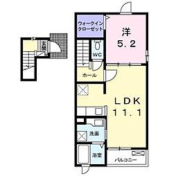 深野3丁目アパート2[0201号室]の間取り