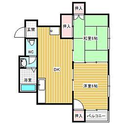 グレースハウス[1階]の間取り