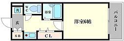 エステムコート大阪城南[5階]の間取り